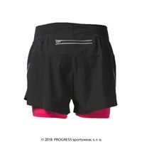 CALABRIA ladies running shorts black/salmon