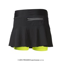 RONA ladies spots running skirt black/salmon