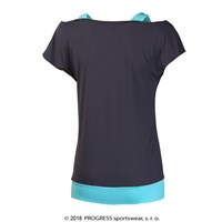 TAIKO ladies training T-shirt black/pistachio