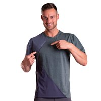 CRUISER mens sports T-shirt khaki melange/grey melange