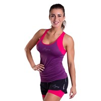 MALAGA 23MA ladies sports singlet purple melange/pink