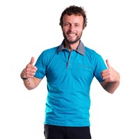 CHINOOK mens bamboo polo shirt turquoise
