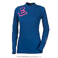 "DF NDRZ PRINT ladies long sleeve T-shirt Dk.blue ""E"" print"