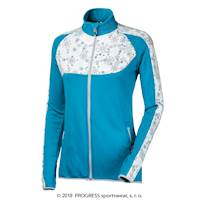 GERDA ladies sports full zip jacket turquoise/white