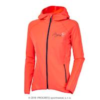 REBECA ladies hooded full zip jacket salmon