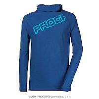 FOCUS mens performance hooded pullover Dk.grey melange