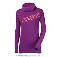 STRADA ladies performance zip neck pullover blue melange