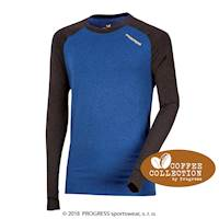 CC NDR mens functional long sleeve T-shirt anthracite/blue