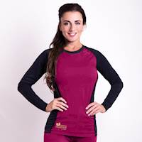 CC NDRZ ladies functional long sleeve T-shirt anthracite/purple
