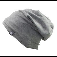 D NORI both side bamboo beanie black/grey melange