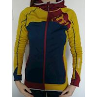REBELIA ladies hooded full zip jacket white/pink