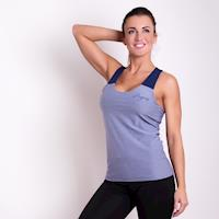 LATE ladies sports singlet grey melange
