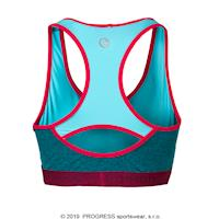 CAVALLINA sports bra blue melange/salmon