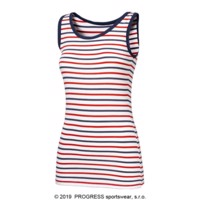 AQUA Ladies bamboo singlet blue-white stripes