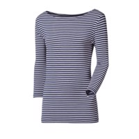 BARCA ladies bamboo 3/4 sleeve T-shirt blue-white stripes