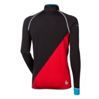 TS REBEL mens full zip jacket black/red/turquoise