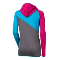 SENECA ladies hooded jacket turquoise/navy/salmon