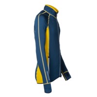 TOREZ II mens sports full zip jacket black/petroleum blue sew.