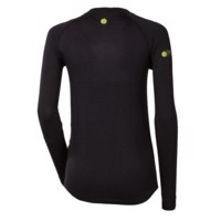 E NDRZ ladies bamboo long sleeve T-shirt black/purple sew.