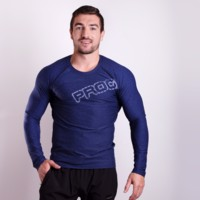 TR BASTARD mens long sleeve T-shirt Dk.blue melange