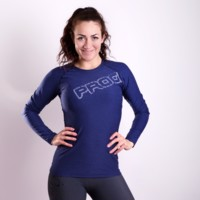 TR BESTIA ladies long sleeve sports T-shirt Dk.blue melange