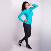TR IMPALA ladies sports leggings Dk.grey melange/black