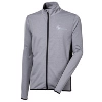 SWIFT MAN mens running jacket grey melange/black