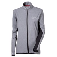 SWIFT LADY ladies running jacket grey melange/black