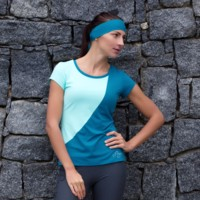 LYKA womens sports T-shirt mint/Dk.green