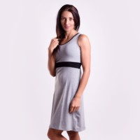 ZUZA ladies dress with bamboo grey melange/black