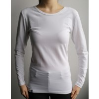 OS SONJA ladies bamboo long sleeve T-shirt white