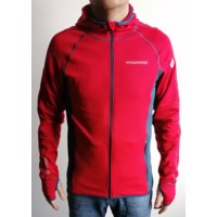 TS TOREZ HOODY mens sports full zip jacket red/petroleum