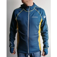 TS TOREZ HOODY mens sports full zip jacket petrol blue/mustard