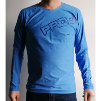 TR BASTARD mens long sleeve T-shirt blue melange