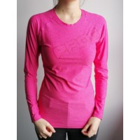 TR BESTIA ladies long sleeve sports T-shirt pink melange