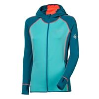 TISPA HOODY ladies sports hooded jacekt navy blue/turquoise