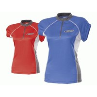 FS+ TKKZ ladies short sleeve jersey red/grey