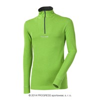 WS TRZ mens zip neck long sleeve T-shirt green