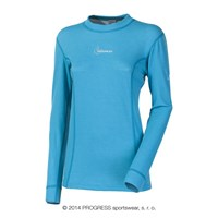 WS TDRZ ladies crew long sleeve T-shirt Lt.blue