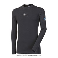 WS TDR mens crew long sleeve T-shirt black