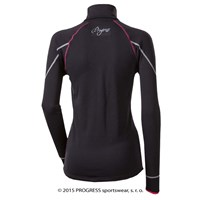 LEONA ladies zip neck pullover black