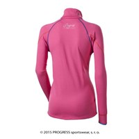 LEONA ladies zip neck pullover pink