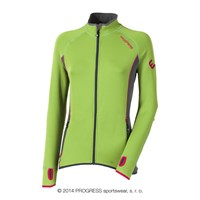 TISPA II ladies sports full zip jacket green/grey