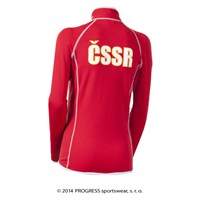 TIMURA ladies retro CSSR sports jacket red