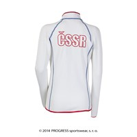 TIMURA ladies retro CSSR sports jacket white