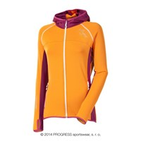 TIBA ladies hooded full zip jacket orange/pink