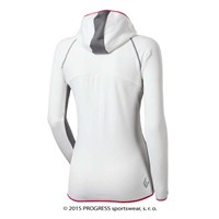 TIBA ladies hooded full zip jacket white/grey/pink
