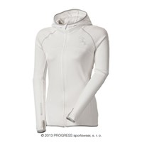 TIBA ladies hooded full zip jacket white