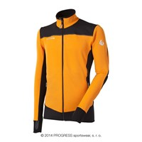 ROFAN mens outdoor full zip jacket orange/black