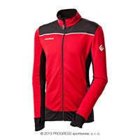 ROFAN mens outdoor full zip jacket red/black